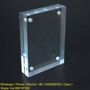 Wholesale photo frame: Clear Acrylic Magnetic Photo Frame