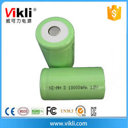 Wholesale ni mh power tool battery: Cylindrical Rechargeable 10AH NIMH D Size Battery