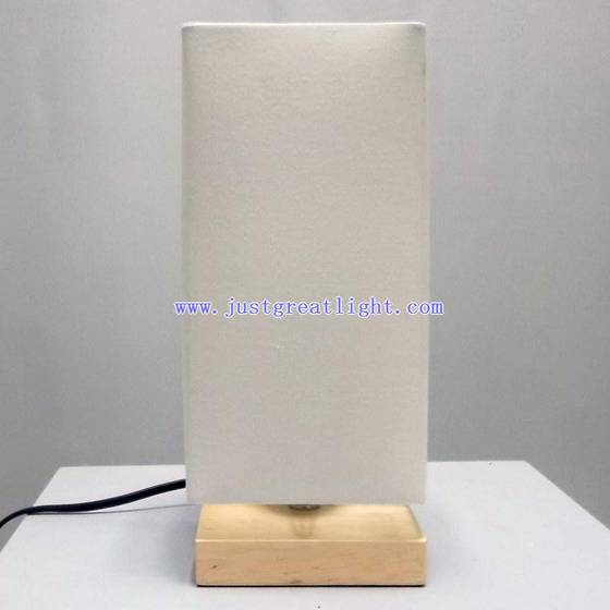 sell white square shade table lamp with wood base for hotel id 18702438 from. Black Bedroom Furniture Sets. Home Design Ideas