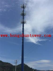 Wholesale communication antenna: Steel Pylon Monopole Communication Antenna Telecom Tower