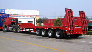 Wholesale side curtain trailer: Low Bed Semi Trailer
