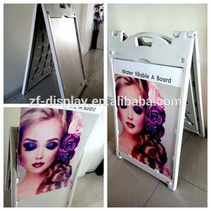 Wholesale Billboards: Double Sided Water Fillable Plastic Pavement Sign Board
