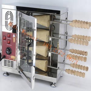 Wholesale Food Processing Machinery: Hungarian Chimney Cake Oven TRDLO Electric Ice Cream Chimney Cake Grill Oven Factory