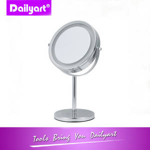 Wholesale makeup mirror: Dual-sided Table Top LED Makeup Mirror