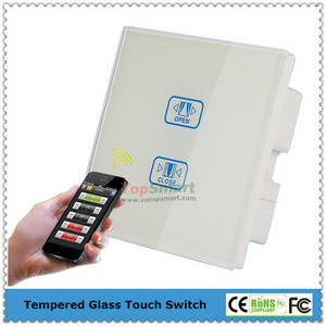 Wholesale curtain panels: Uk Type Wifi Mobile App Remote Control Glass Touch Panel Curtain Switches