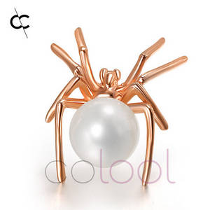 Wholesale wholesale sterling silver jewelry: Sterling Silver and Pearl Spider Brooch Jewelry Jewelry Wholesale