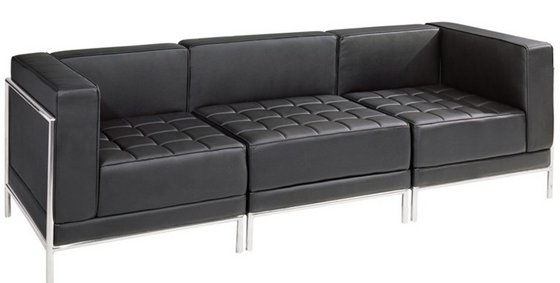 office leather sofa image black leather sofa office