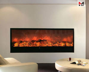 Wholesale electric curtain profile: Indoor 220v Electric Fireplace for Home Heating