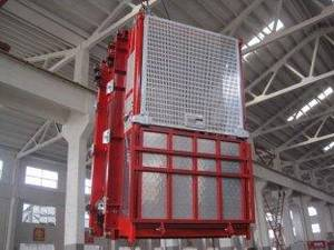 Wholesale elevator part: OEM Red Construction Hoist Parts Building Lifter Single Elevator Cage For Oil Fields