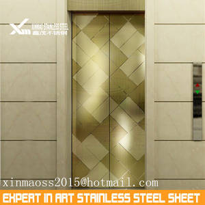 Wholesale elevator part: 304 Stainless Steel Color Sheets for Elevator Parts