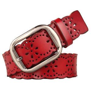Wholesale fashion belt: Lady Fashion Belt Hollow Genuine Leather