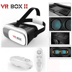 Wholesale gamepad: 100% Original VR Box 2.0 3D Glasses Headset Virtual Reality