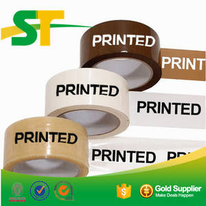 Wholesale printing material: Customized Waterproof Bopp Material Printed Tape Single Side Adhesive Side with Colors Logo