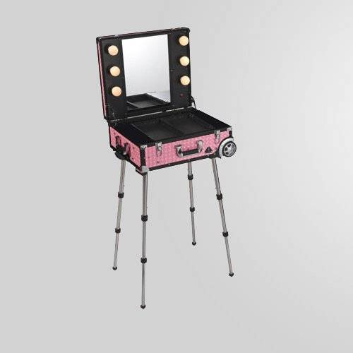 sell portable make up table with 6 lights db9608k