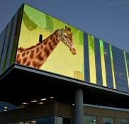 Pixel Pitch 25mm Outdoor LED Curtain Display Screen