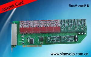 Wholesale home voip phone: 24 Port Asterisk Fxs/Fxo PCI Card Same As Digium Card