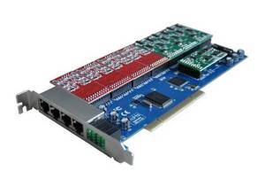 Wholesale voip telephone: 16 Fxs/Fxo PCI Asterisk Card Same As Digium Card
