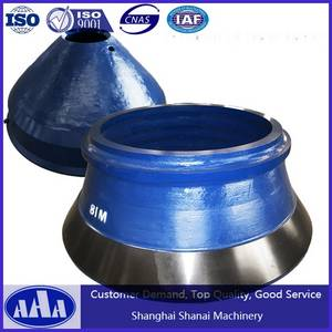Wholesale terex: High Manganese Steel Casting Concave and Mantle Cone Crusher Bowl Liner Terex Finlay HP300 Cones
