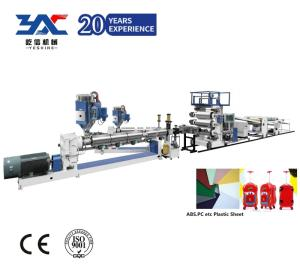 Wholesale pc sheet: hard casing luggage abs pc sheet machine