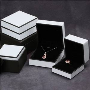 Wholesale plastic box/package: Leather Cover Packaging Jewelry Plastic Box,Jewelry Box