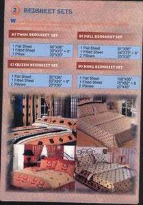 Wholesale bed sheet set: BED SHEETS-BED SETS-BED SPREAD/COVERS-PILLOWS.