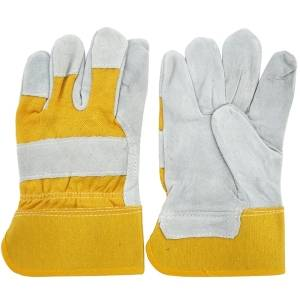 Wholesale leather glove: Cowhide Split Leather Palm Gloves