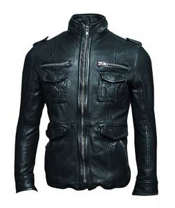 Wholesale epaulets: Fashion Leather Jackets