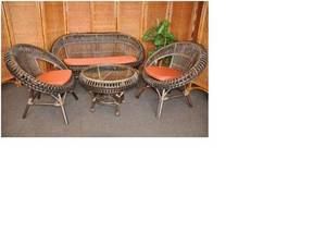 Wholesale Bamboo, Rattan & Wicker Furniture: Princes Living Set