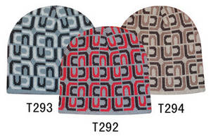 Wholesale winter hat: Jacquard Pattern Knitted Winter Beanie Hat