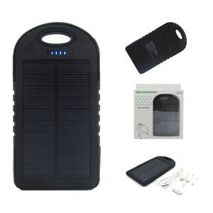 Wholesale mobile solar charger: Waterproof Solar Charger 5000mah,Solar Mobile Charger,Waterproof Solar Power Bank