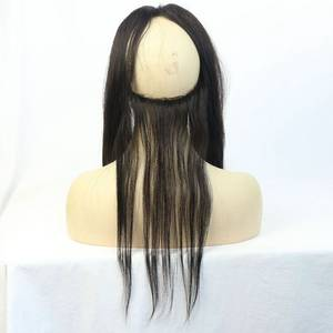 Wholesale Other Hair Accessories: Wholesale Lace Frontal Closure with Adjust 360 Lace Band Cheap Virgin Brazilian Hair 13X4