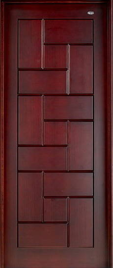 Sell Deluxe Wooden Door With Simple Carving