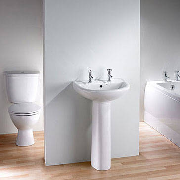 Close Coupled Toilet Pan & Cistern & Basin & Pedestal