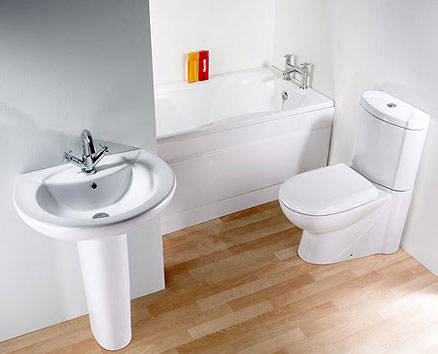 Washdown Toilet and Cistern and Washbasin and Pedestal