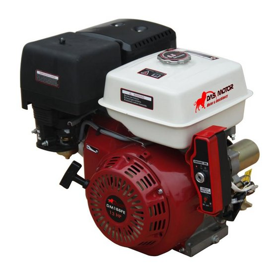 13 hp gx390 recoil electric start gasoline engine
