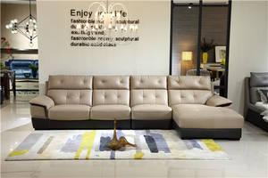 Wholesale gold set: Gold Supplier Simple Design Corner Leather Sofa Set for Office for Living Room