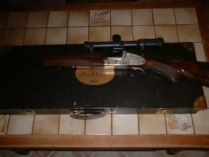 Wholesale h: Gun Combined Gebruder Merkel H. H. 375 + Kal 12/70 (504)321-1537