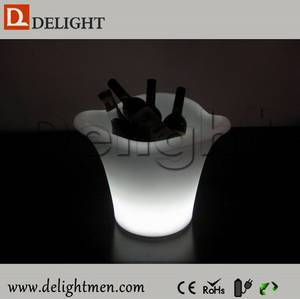 Wholesale Ice Buckets: Plastic Rechargeable Remote Control Illuminated Color Changing LED Light Bucket for Party Event