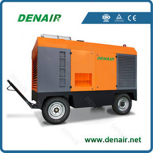 Wholesale screw air compressor: Industrial Diesel Engine Mobile Rotary Screw Air Compressor for Mining