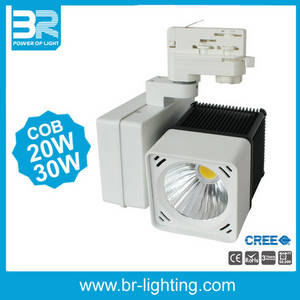 Wholesale led spotlight: 30W LED Tracklight COB Track Spotlight Ra>90
