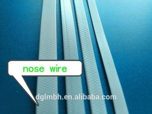 Wholesale full face mask: Full Plastic Nose Wire for Face Mask