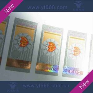 Wholesale security tags for clothing: Hot Stamping Adhesive Custom Hologram Labels Stickers