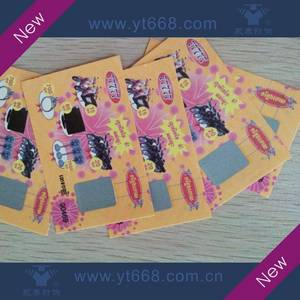 Wholesale printing labe: Scratch Off Lottery Card