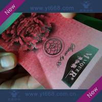 Coupon Gift Ticket with Embossing Printing