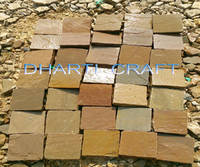 Autumn Brown Sandstone Cobbles Landscaping India