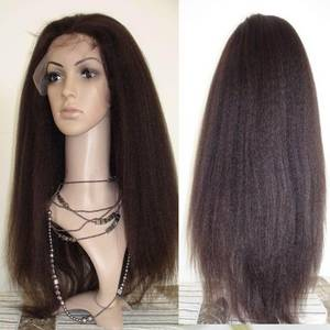 Wholesale wig: Brown Layered Remy Human Hair Good Long Wigs