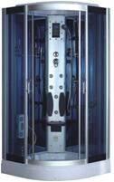 Wholesale bathroom telephone: 2016 Free Standing Blue Glass Sliding Shower Room (Raymond-A)