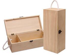 Wholesale wooden wine box: Wine Tin Original  Wooden Box with Hinge