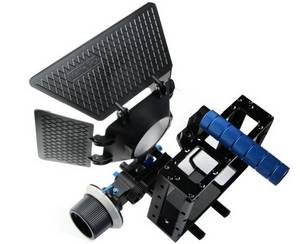 Wholesale box cameras: DSLR Camera Cage and Follow Focus F1 and Matte Box System for Video Camera 5D2 7D 60D Flash Speedlit