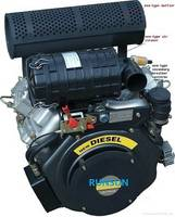 25 HP V Twin Air Cooled Diesel Engine